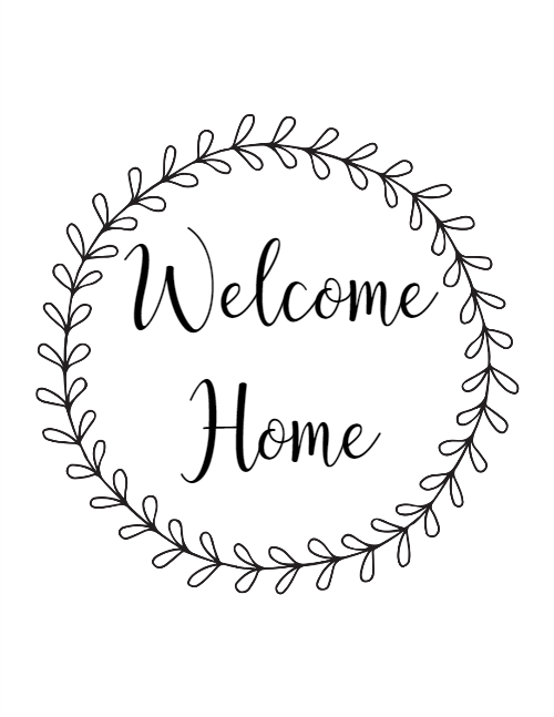 Welcome home sign clipart png clipart royalty free stock Free Printables with Customizable Backgrounds | Willowsford ... clipart royalty free stock