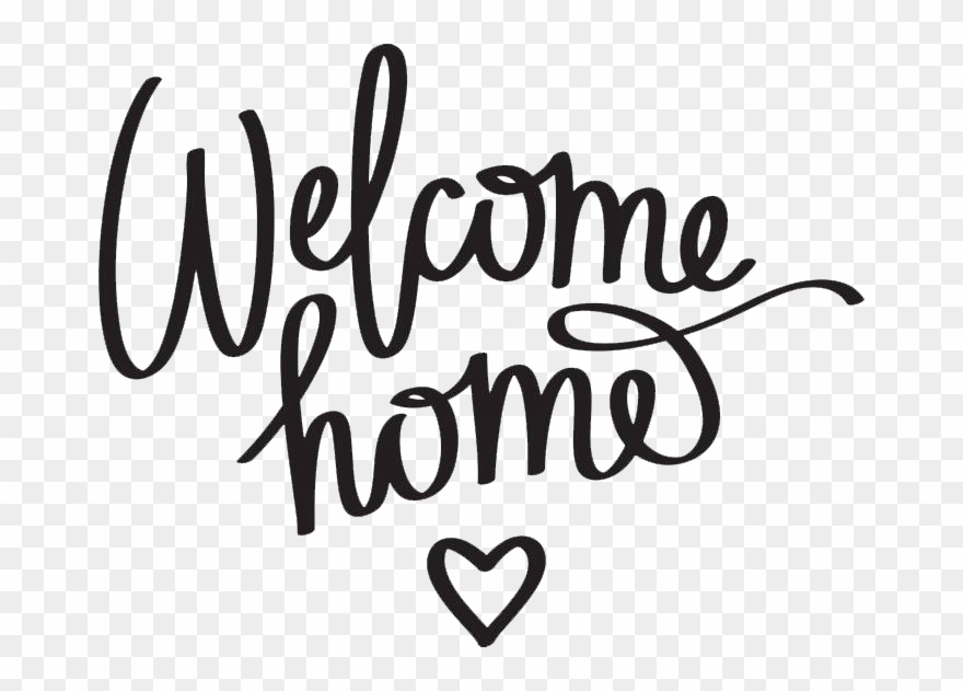 Welcome home sign clipart png clipart free stock 700 X 551 6 - Welcome Home Clipart Black And White - Png ... clipart free stock