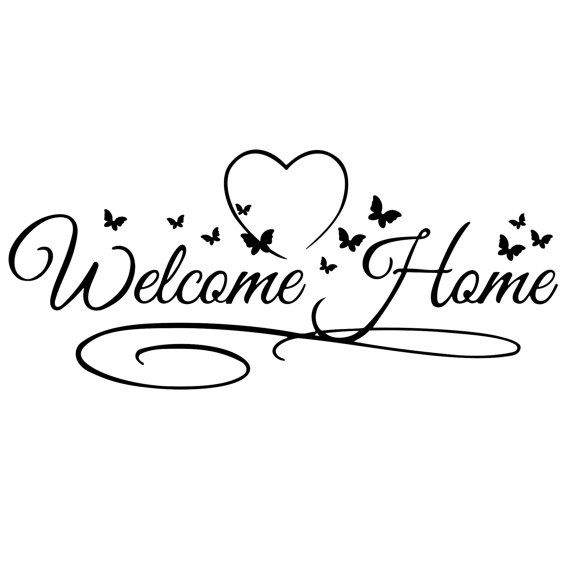 Welcome home sign clipart png jpg Pin by SHELIA 2016 on [ Beautiful Butterflies ] | Welcome ... jpg
