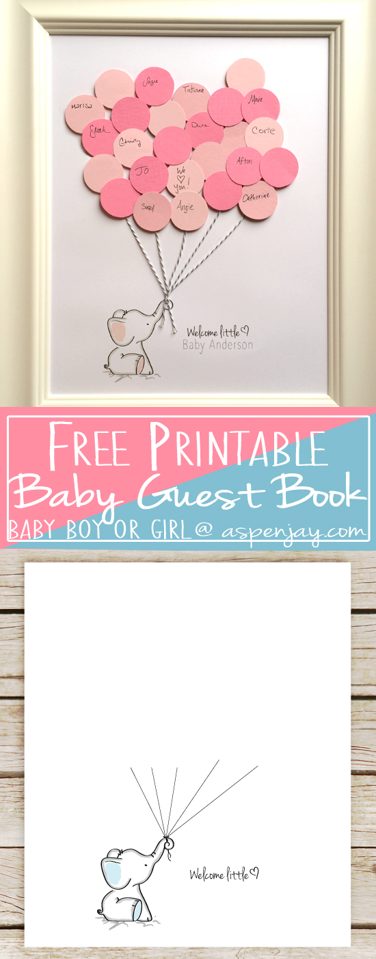 Welcome little one clipart clipart transparent Elephant Baby Shower Guest Book Printable - Aspen Jay clipart transparent