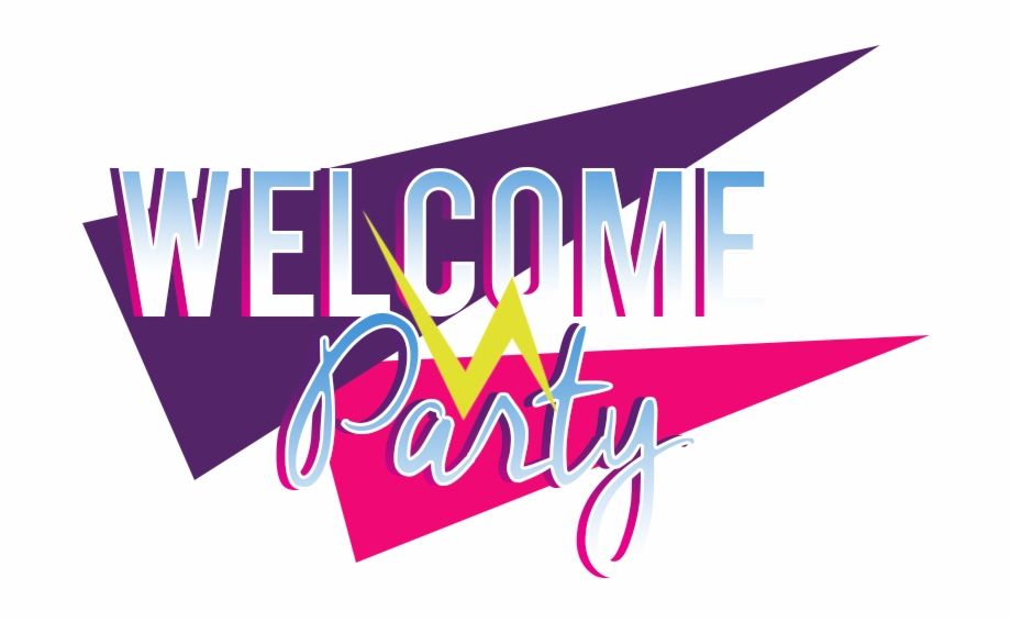 Welcome party clipart banner download Welcome Party Logo - Graphic Design Free PNG Images ... banner download