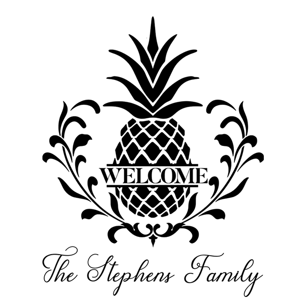 Welcome pineapple clipart picture black and white F10012 \