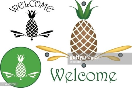 Welcome pineapple clipart jpg download Pineapple Hospitality Motifs premium clipart - ClipartLogo.com jpg download