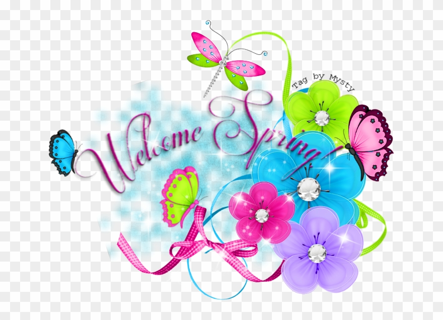 Welcome spring image clipart jpg transparent library A Seasonal Image From Glitter-graphics - Welcome Spring ... jpg transparent library