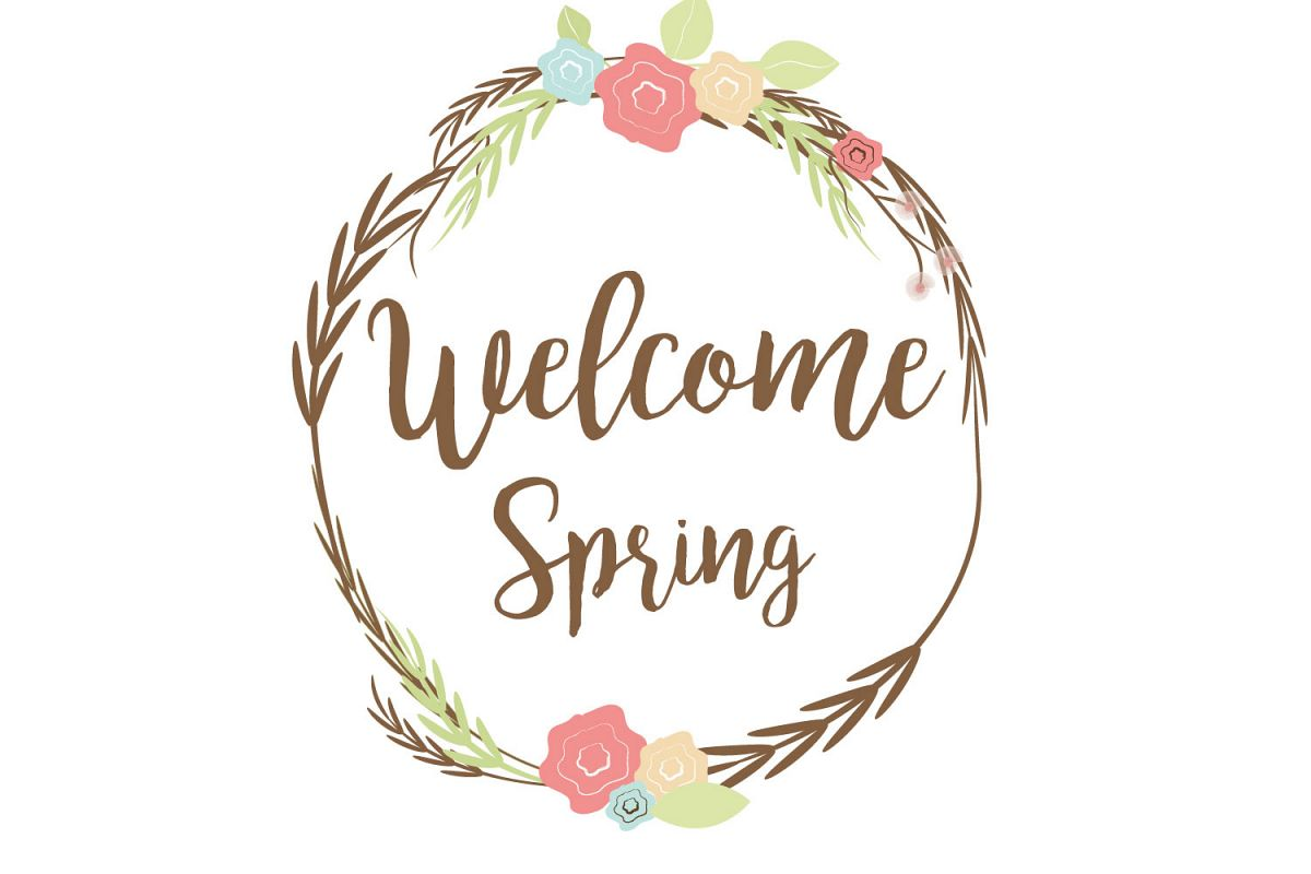 Welcome spring image clipart image royalty free library Welcome spring clip art graphic file. image royalty free library