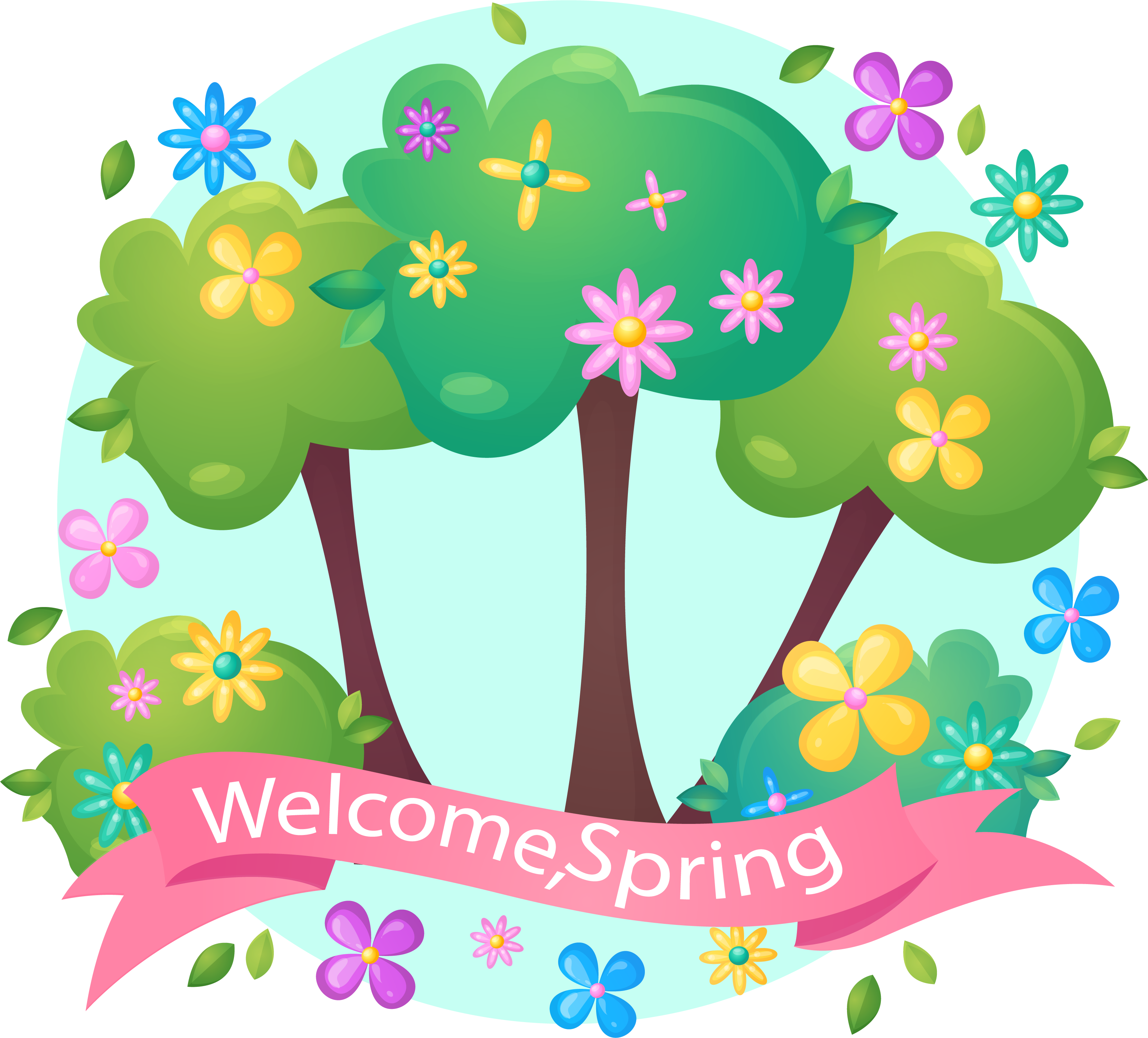 Welcome spring image clipart graphic royalty free Pink Transprent Png Free Download - Banner Welcome Spring ... graphic royalty free