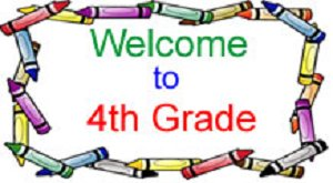 Welcome to fourth grade clipart