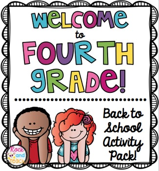 Welcome to 4th grade clipart freeuse download First Day of School: Welcome to 4th Grade [NO PREP ... freeuse download