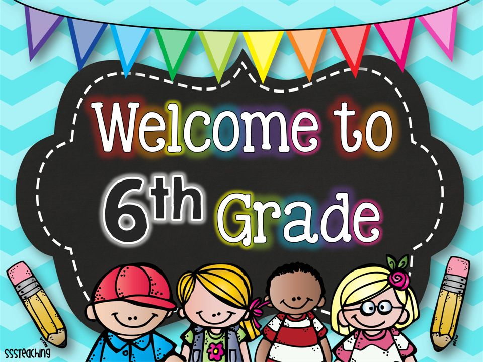 Welcome to 6th grade clipart image black and white library Welcome to 6 th Grade Back to School Night! Nicole Guerriero ... image black and white library