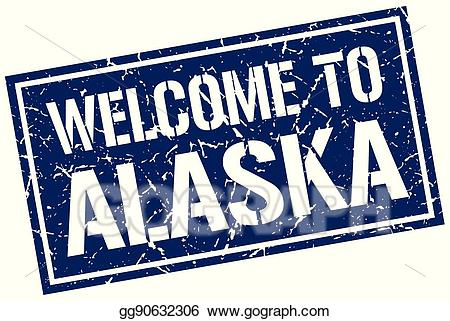 Welcome to alaska clipart jpg black and white download Vector Clipart - Welcome to alaska stamp. Vector ... jpg black and white download