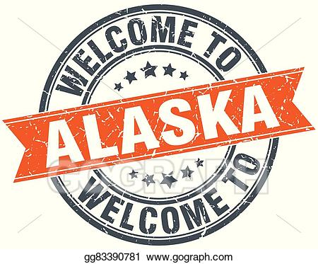 Welcome to alaska clipart vector black and white library Alaska clipart stamp Circle Png, Vector, PSD, and Clipart ... vector black and white library