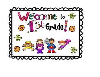 Welcome to grade 1 clipart graphic free Welcome To 1st Grade Postcard Worksheets & Teaching ... graphic free