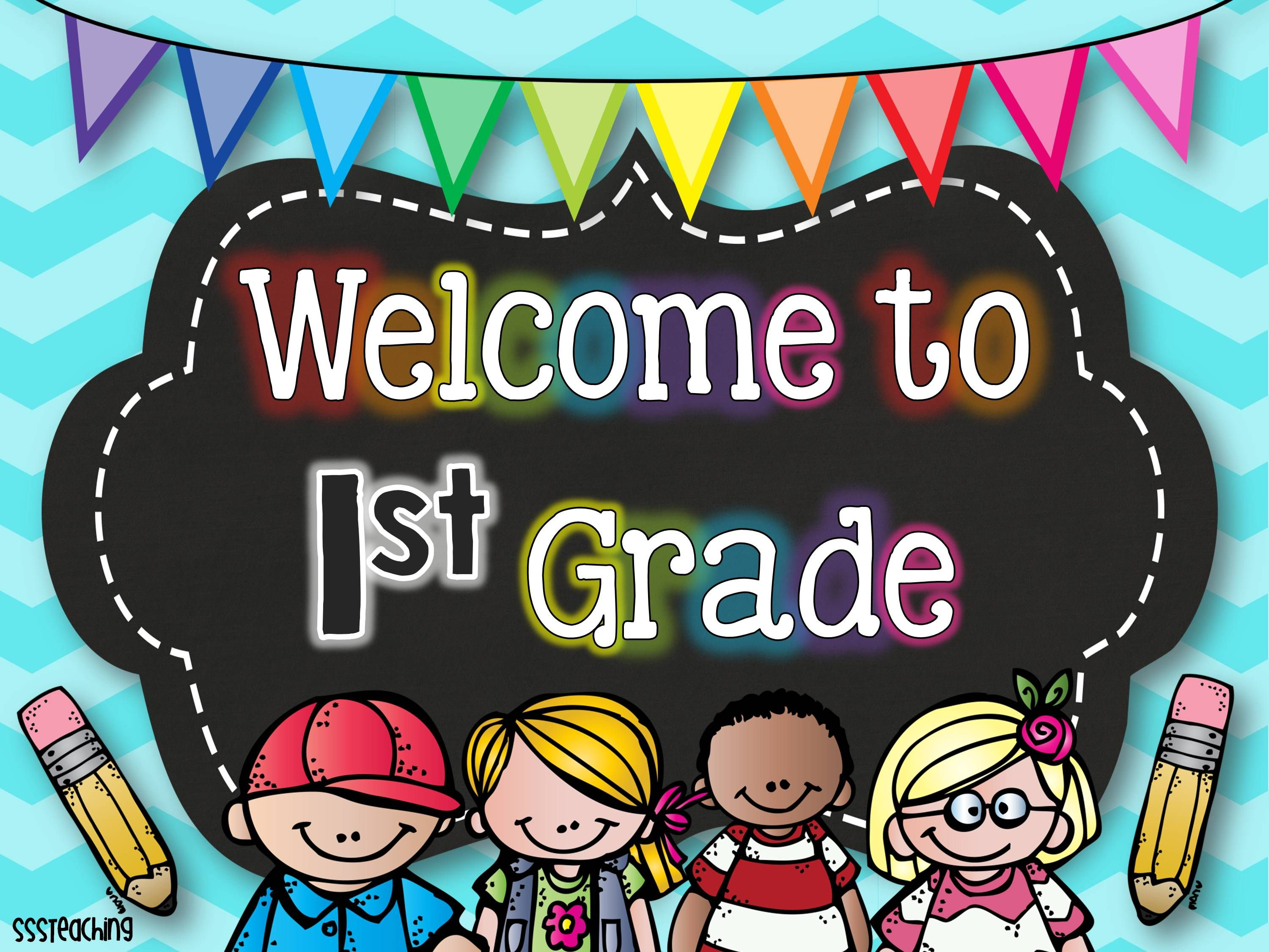 Welcome to grade 1 clipart svg black and white Five for Friday | Classroom Freebies | Meet the teacher ... svg black and white