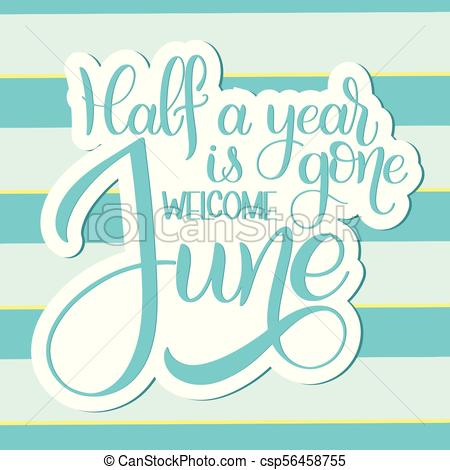 Welcome to june clipart clip art free stock Hello June lettering. clip art free stock