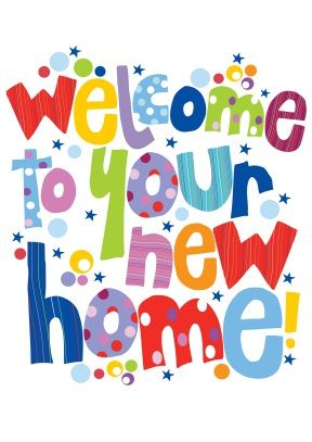 Welcome to our family clipart svg freeuse download Welcome to your new home | New Home Card | ...a little ... svg freeuse download
