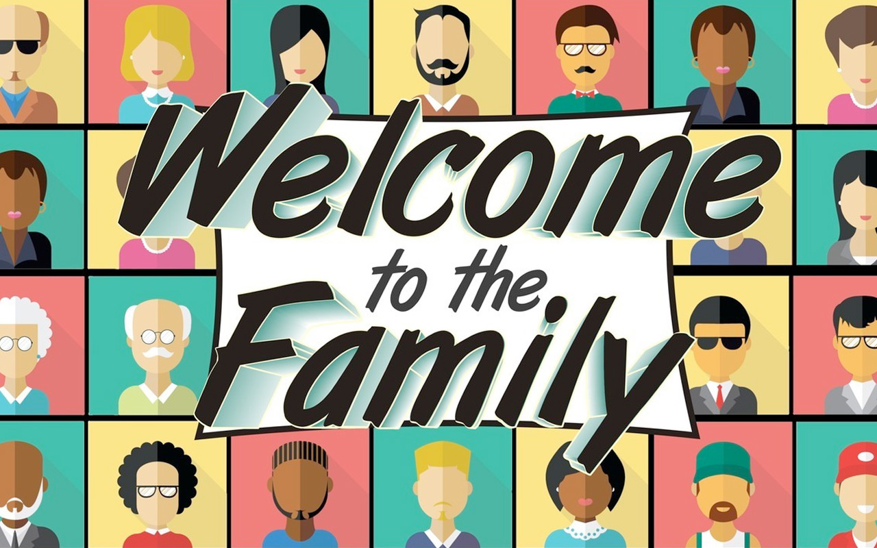 Welcome to our family of faith clipart image black and white library Welcome to the Family | Vineyard Church of Augusta image black and white library