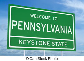 Welcome to pennsylvania clipart image transparent download Welcome to pennsylvania state road sign Illustrations and ... image transparent download
