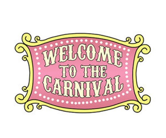 Welcome to the carnival clipart jpg black and white Welcome to the Carnival Vintage Sign, Welcome sign for ... jpg black and white