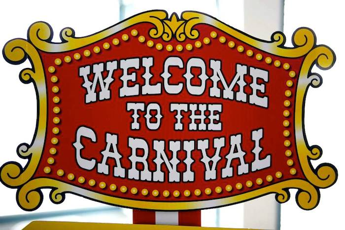 Welcome to the carnival clipart clip black and white Kara\'s Party Ideas Circus Carnival Birthday Party {Planning ... clip black and white