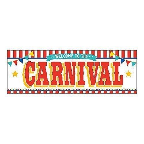 Welcome to the carnival clipart clip freeuse Details about Welcome to the Carnival Plastic Banner 6\' W x ... clip freeuse