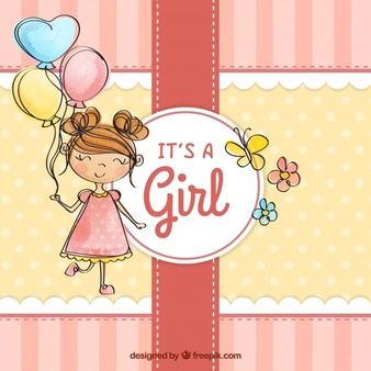 Welcome to the world baby girl clipart banner freeuse download Baby Girl Vectors, Photos and PSD files   Free Download banner freeuse download