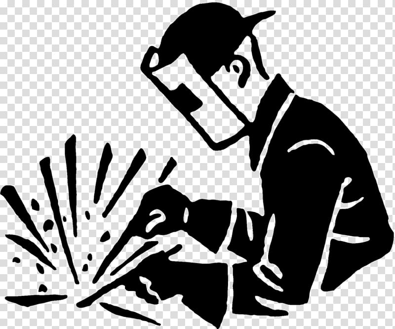 Welding silhouette clipart png free stock Arc welding Black and white Welder , others transparent ... png free stock