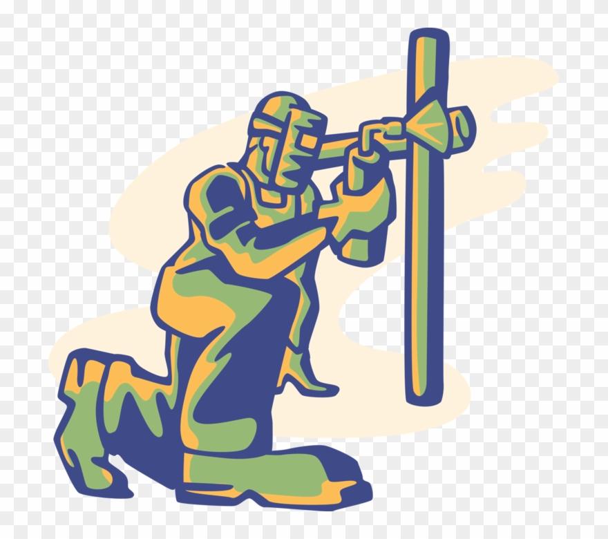 Welding arc clipart png free Vector Illustration Of Welder Shielded Metal Arc Welding ... png free