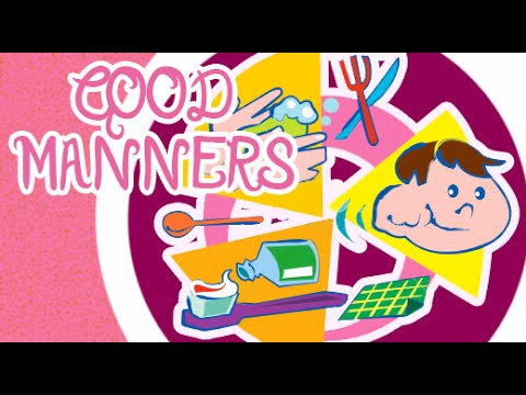Well behaved kid clipart clipart black and white download Good Manners For Children in English | Good Habits and Manners for Kids  Animation Video clipart black and white download