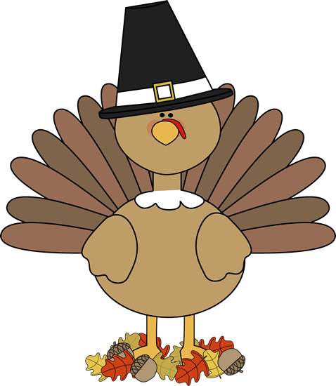 Well dressed turkey clipart clipart black and white download Thanksgiving Graphics | Turkey Pilgrim and Autumn Leaves ... clipart black and white download
