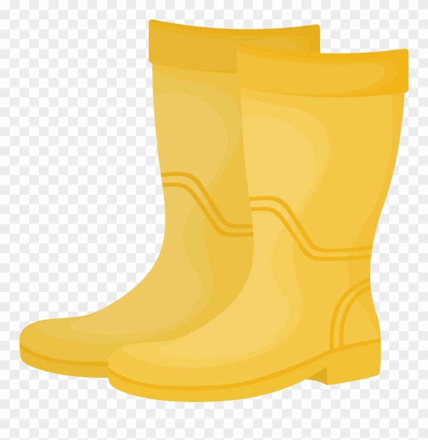 Yellow rain boot clipart clip royalty free Yellow Wellington Boot Clipart (#914633) - PinClipart clip royalty free