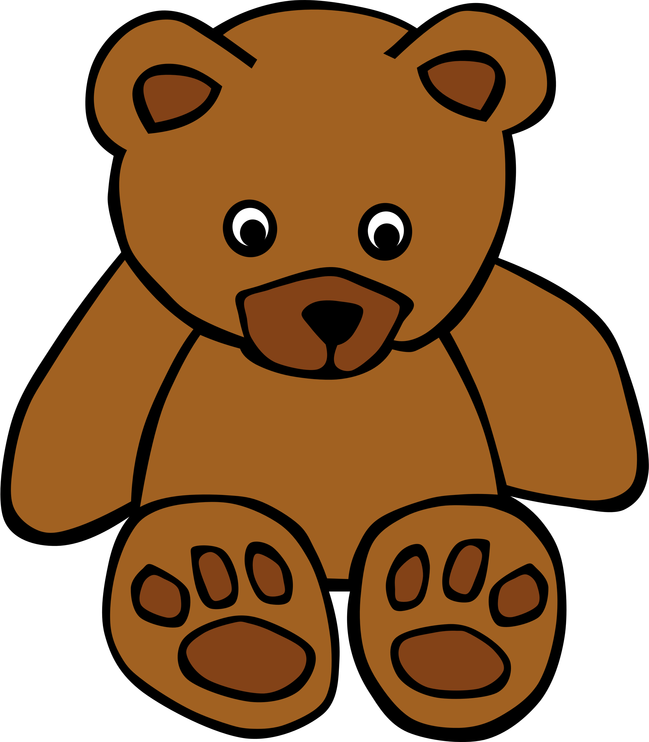 Went over clipart banner royalty free library Puggles | Bears | Teddy bear coloring pages, Bear clipart ... banner royalty free library