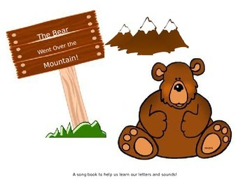 Went over clipart vector black and white library The Bear Went Over the Mountain vector black and white library