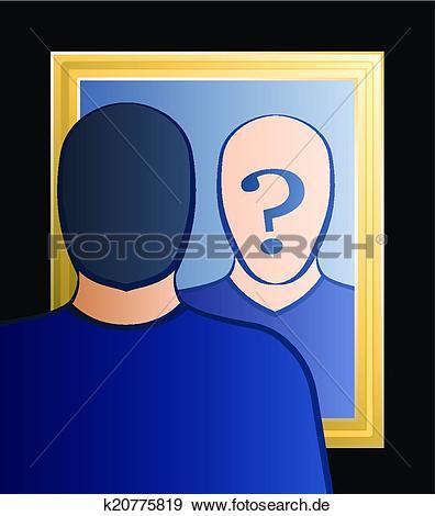 Wer bin ich clipart jpg black and white Clip Art - spiegel, wer, bin, ich, mann k20775819 - Suche Clipart ... jpg black and white