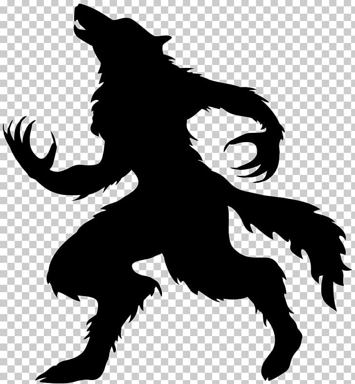 Werewolf clipart black and white black and white download Werewolf Halloween Full Moon Gray Wolf PNG, Clipart, Black ... black and white download