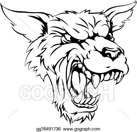 Werewolf clipart black and white svg stock EPS Illustration - Werewolf or wolf character. Vector ... svg stock