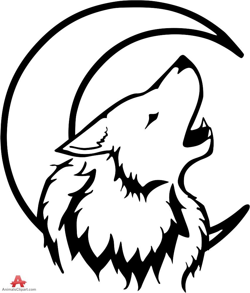 Werewolf clipart black and white svg transparent library Wolf Clipart Black And White   Free download best Wolf ... svg transparent library