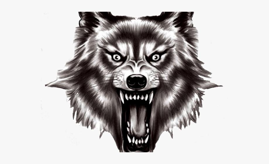 Werewolf clipart black and white clip art black and white download Werewolf Clipart Wolf Head - Wolf Head Transparent ... clip art black and white download