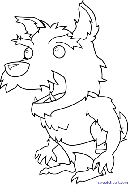 Library of werewolf vector download black and white png ...
