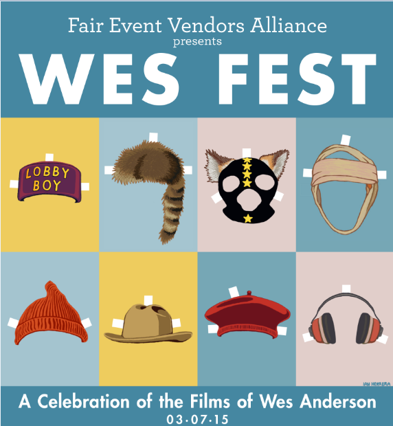 Wes anderson clipart image black and white library Celebrate the Films of Wes Anderson with us! - Boston\'s ... image black and white library