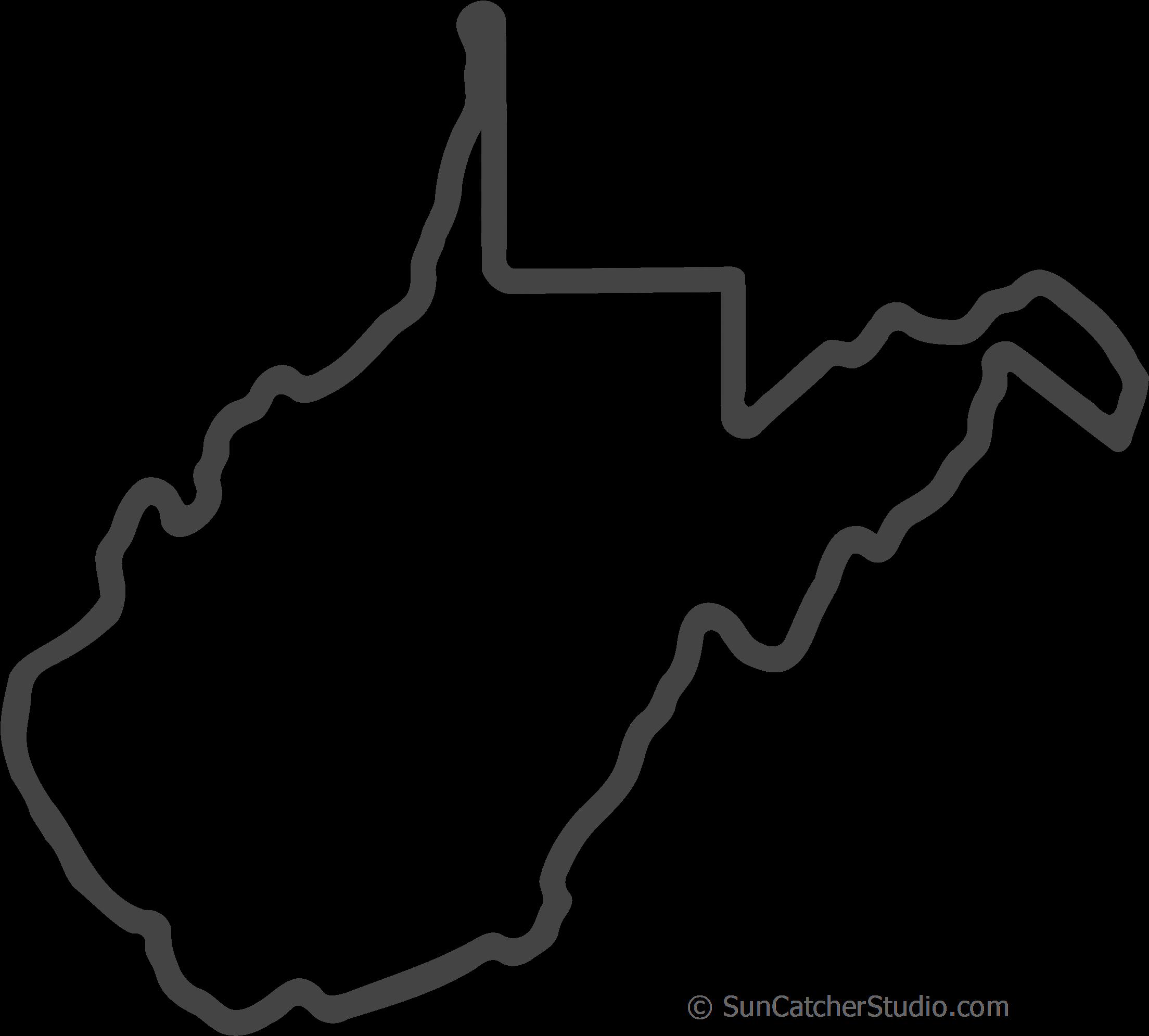 West virginia clipart black clip transparent Free West Virginia Outline With Home On Border, Cricut ... clip transparent