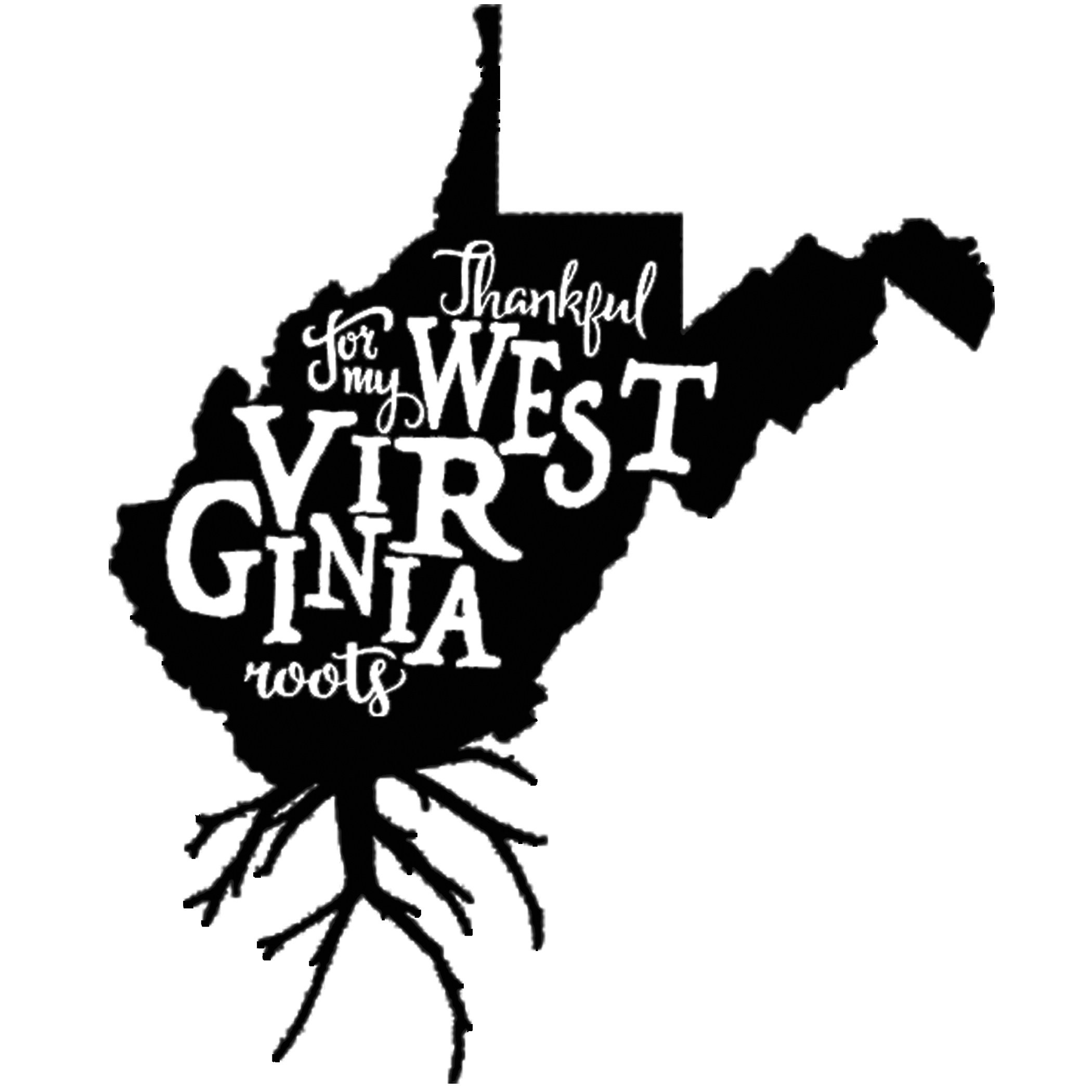 West virginia roots clipart