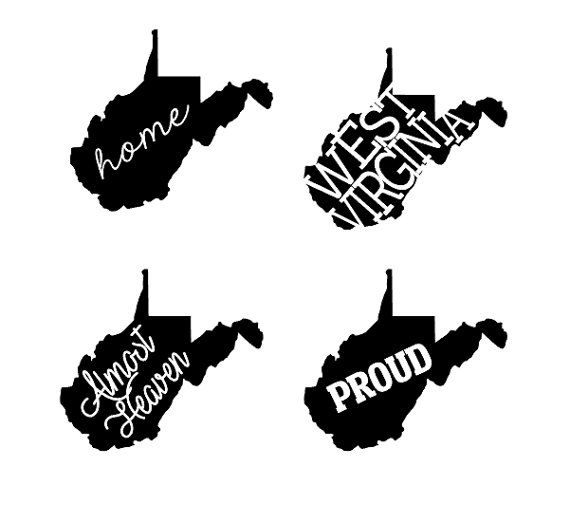 West virginia roots clipart clipart free download West Virginia State Decals WV Decals West by HPDesignsShop ... clipart free download