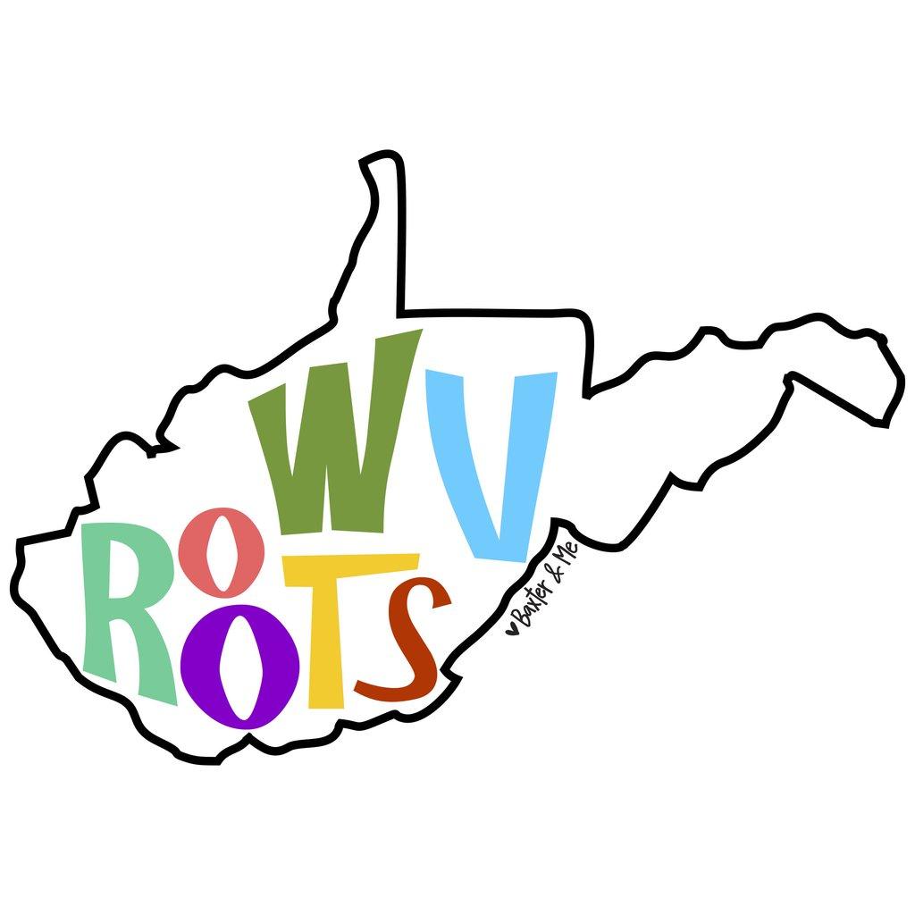 West virginia roots clipart clip art freeuse stock West Virginia – LuckyBird Clothing Co. clip art freeuse stock