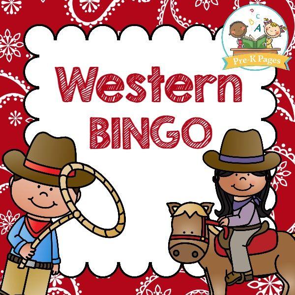 Western bingo clipart clip transparent Western Bingo | WESTERN THEME for PRESCHOOL | Wild west ... clip transparent