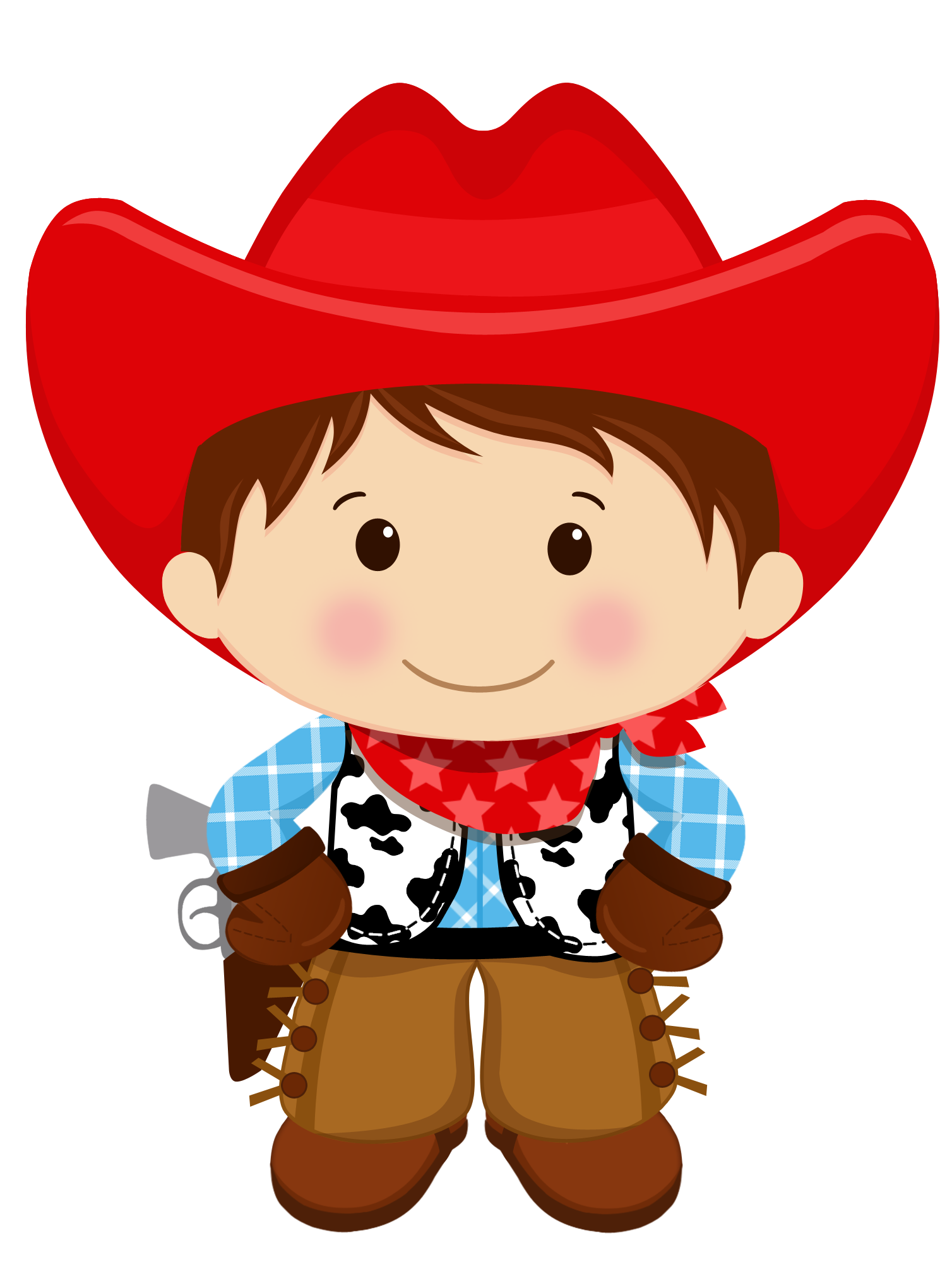 Western book clipart png free stock Brown haired cowboy | clipart | Pinterest | Clip art, Felt toys and ... png free stock