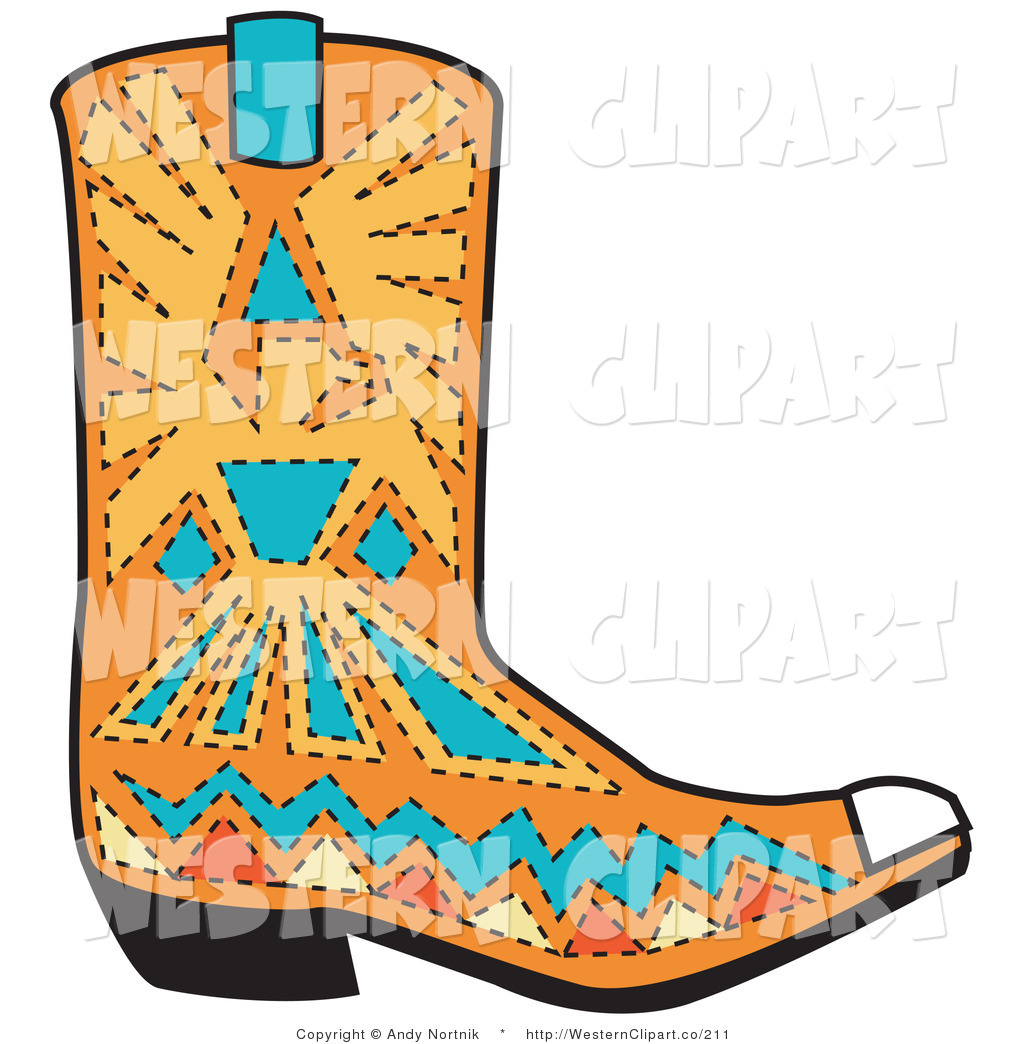 Western clip art patterns image freeuse stock Royalty Free Stock Western Designs of Boots image freeuse stock