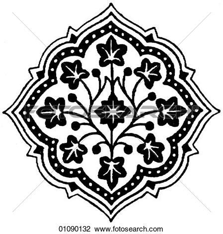 Western clip art patterns svg free stock Clip Art of Patterns & Motifs - Persia - line art Persian Ornament ... svg free stock