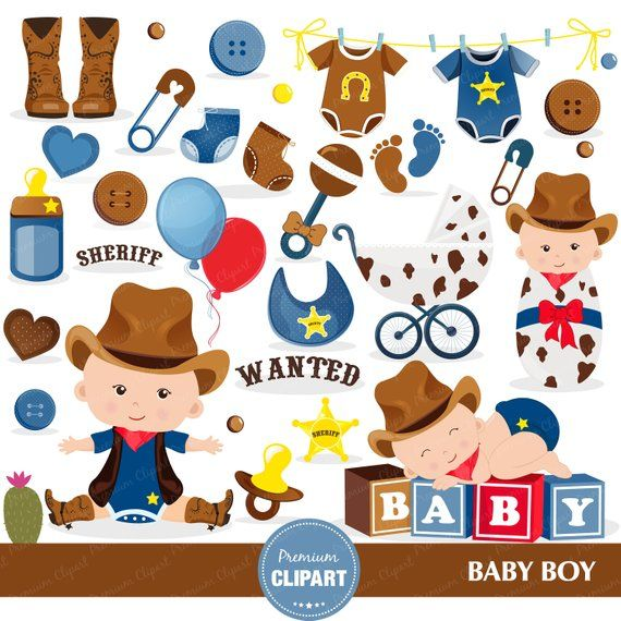 Western clipart invitations graphic free download Cowboy baby shower clipart, Baby shower clipart, Wild West ... graphic free download