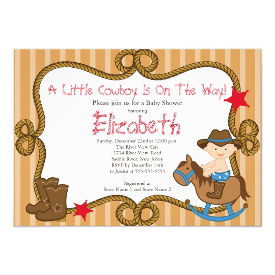 Western clipart invitations clip download Cute Western Little Cowboy Baby Shower Invitations clip download