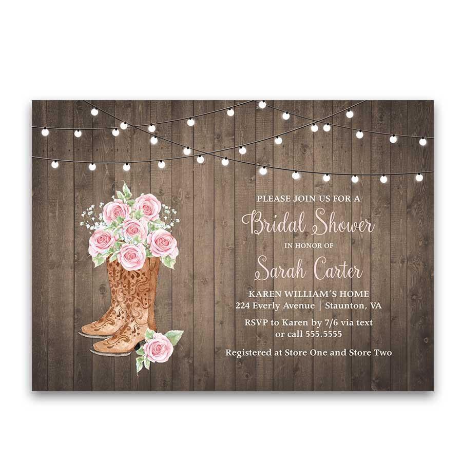 Western clipart invitations clip art Rose of Texas Bridal Shower Invitation Cowgirl Boots Blush ... clip art
